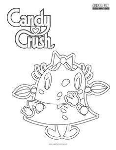 Lujo M M Candy Para Colorear Ilustracin