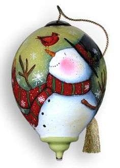 Christmas/Holiday Ornaments : NeQwaOrnaments.com, Featuring a Complete Selection of NeQwa Ornaments...I love this snowman!!!