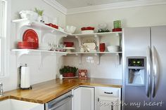 I am considering doing this style of shelving in the kitchen.