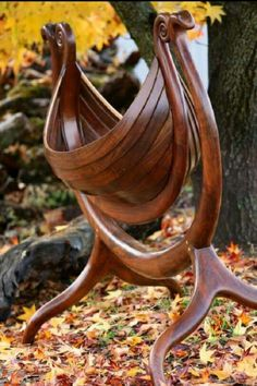 Beautiful viking cradle. What a work of art!