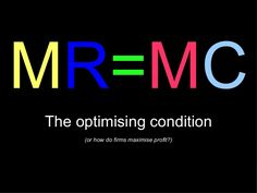 MR=MCThe optimising condition (or how do firms maximise profit? Micro Economics, Teaching Economics, Cost Accounting, Home Tutors, Mock Test, Financial Literacy, Study Notes, Small Groups, Coaching