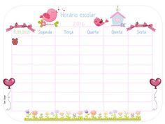DANI EDUCAR: horario de aula Dani, Planners, Unisex, Early Education, Leaves, Weekly Planner, Free Printable Calendar, School Timetable, School Calendar