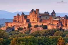 Carcassonne, France, - not too far away from montpellier.  this used to be in ruins but they refurbished it for the tourists.