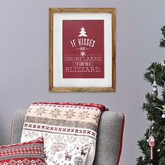 "Stratton Home Decor ""If Kisses Were Snowflakes"" Framed Wall Art"
