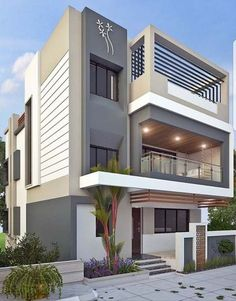 Pictures Of Exterior Modern House Colors. 20 Pictures Of Exterior Modern House Colors. 50 House Colors to Convince You to Paint Yours 3 Storey House Design, Duplex House Design, House Front Design, Small House Design, Cool House Designs, Modern House Colors, Best Modern House Design, Modern House Plans, Dream House Exterior