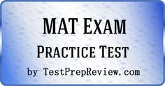 Free MAT Practice Test Questions by TestPrepReview. Be prepared for your Miller Analogy test. #matexam