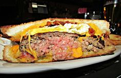 The Breakfast Burger at Company Bar & Grill in the East Village.