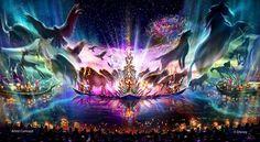 Rivers of Light ..arte conceptual de paseo en nueva atracción de Avatar...debuta en 2017