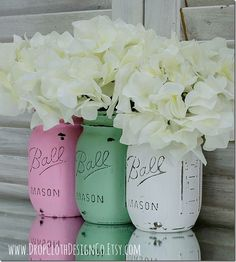 Spring Wedding Jars | Mason Jar Crafts Love