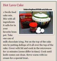 Bean Pot Hot Lava Cake.  Get the full recipe here http://beanpotcookingwithbrandysolis.blogspot.com/