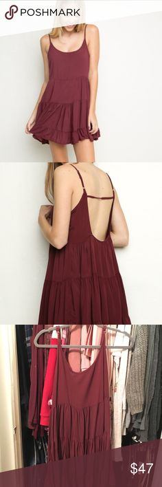 NWT Brandy Melville Maroon Jada Dress -NWT Brandy Melville Maroon Jada -Size Small. Bought this a few years ago but have never worn it, its literally been sitting in my closet. It is the thicker longer cotton version which is perfect for the taller girls plus it's not see through like the thin jadas. I'm 4'10 and it goes about down to my knees. Just looking to get back what I paid + posh fees. Brandy Melville Dresses Mini
