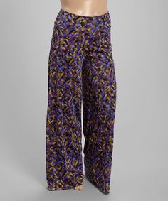 Love this Purple Abstract Palazzo Pants - Plus on #zulily! #zulilyfinds