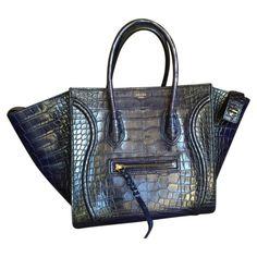 CÉLINE Navy Exotic leathers Handbag