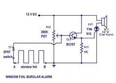 Burglar #AlarmCircuit Diagram #EEE #ECE