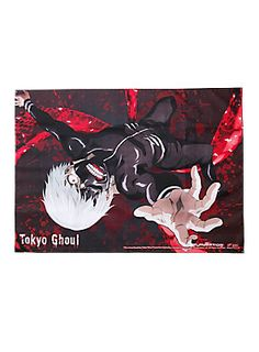 """Life as a ghoul isn't easy...this fabric poster from Tokyo Ghoul shows transformed Ken Kaneki in his signature costume, kagune at the ready. We're hungry to know what happens next.<div><ul><li style=""""list-style-position: inside !important; list-style-type: disc !important"""">29 1/2"""" x 42""""</li><li style=""""list-style-position: inside !important; list-style-type: disc !important"""">Imported</li></ul></div>"""