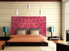 Custom Wallpapered Headboard