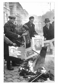 Burning of photos of Communist leader during Hungarian Uprising Oct. Budapest Guide, World Conflicts, Photographer Portfolio, Political Events, Modern History, Central Europe, Magnum Photos, Budapest Hungary, Eastern Europe