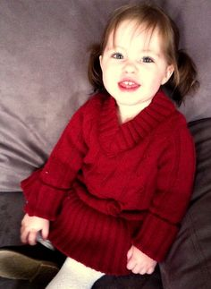 Utah County Mom: Toddler Sweater Dress from Old Sweater