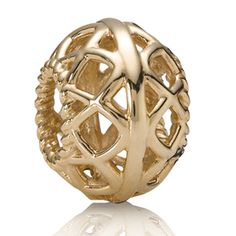 Pandora 14K Open Lattice Charm