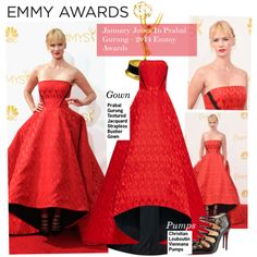 """Emmy Awards-January Jones In Prabal Gurung – 2014 Emmy Awards"" by kusja on Polyvore"
