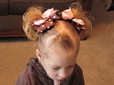 great do for growing out bangs! Girl Hair Dos, Baby Girl Hair, Little Girl Hairstyles, Pretty Hairstyles, Jennifer Aniston, Growing Out Bangs, Toddler Hair, Toddler Bangs, Grow Out