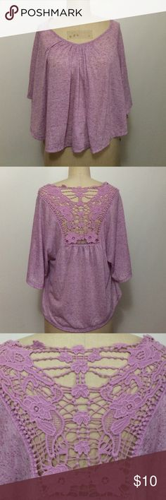 American Dream Lavender Top w/ Lace American Dream lavender top with lace on the back - size medium. In excellent condition. American Dream Tops Blouses