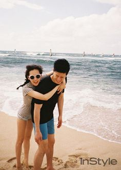 Celebrity couple Yoon Seung Ah and Kim Moo Yeol vacation in Hawaii for 'InStyle'…