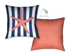 Starfish Stripe Decorative Pillow – Laural Home