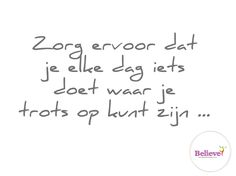 Wees trots...