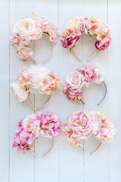 Handmade flower crowns spring racing melbourne etsy k is for … - Modern Diy Flower Crown, Flower Crowns, Floral Crown, Flower Crown Headband, Diy Headband, Floral Headbands, Baby Headbands, Headband Pattern, Handmade Flowers