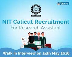 NIT Calicut RA Recruitment