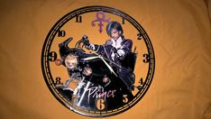 Roger Nelson PRINCE Vinyl Record Wall Clock - Decorate your home with Modern Large up cycled 12''