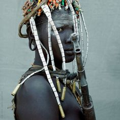 Stock photo of Mursi tribal woman adorned. Ethiopia by hughsitton African Tribes, African Women, Tribal Women, Us Images, Ethiopia, Design Elements, Royalty Free Stock Photos, The Unit, Photo And Video