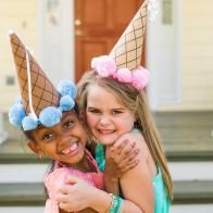 Easy-to-Make Burlap Wreath   HGTV Ice Cream Party, Ice Cream Theme, Make Ice Cream, Candy Land Party, Crazy Hat Day, Crazy Hats, Silly Hats, Ice Cream Social, Hat Crafts