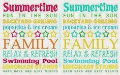 Summertime FREE printables