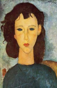 """Amedeo Modigliani, """"Retrato de Elvira"""" (1917)"""