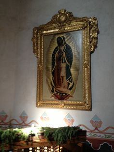 Our Lady of Guadalupe at the Church at Mission San Luis Ray de Francia in Oceanside, California.  (Whitaker, 2014).