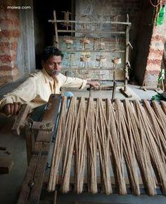 winding tussar silk warp | Odisha, India