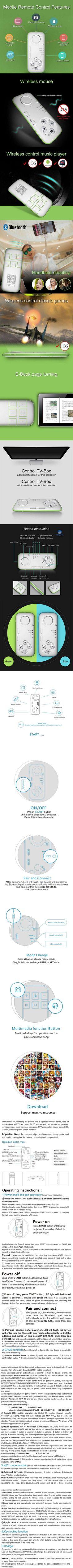 Mocute Brand Mini Bluetooth Joystick Selfie Bluetooth Remote Controller Gamepad Wireless Mouse