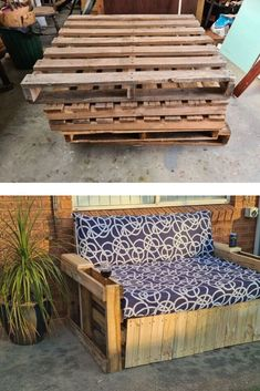 We love this outdoor Summer DIY idea to make your patio, deck or backyard more cozy. Check out this easy outdoor furniture diy pallet daybed you can make for cheap. Pallet Daybed, Closet Door Makeover, Ikea Chair, Wooden Sofa, Diy Outdoor Furniture, Hotel Decor, Diy Patio, Summer Diy, Diy Pallet