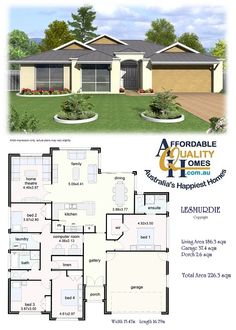 Affordable Quality Homes - Lesmurdie 226sqm (like HT option, combine bed3+4 for office))