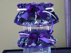 Baltimore Ravens Wedding Garter Set
