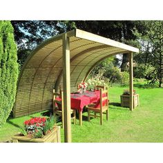 The Curve Garden Shelter Demi Unit | Jacksons Fencing