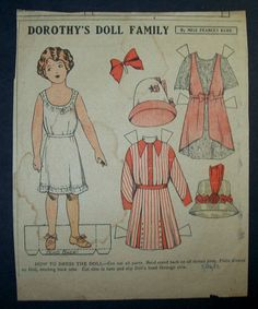 Dorothy's Doll Family paper doll 5-26-12 / Ebay by Miss Francis Kerr