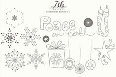 Check out Christmas Doodles 2 by 7thAvenueDesign on Creative Market