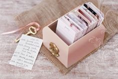 Perpetual Calender/ Daily Journal with Salmon Painted Wood Box - Gratitude Journal Gift