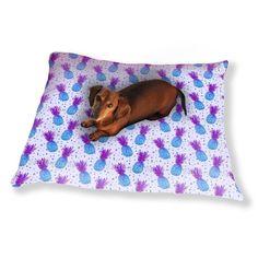 Uneekee Disco Pineapple Dog Pillow Luxury Dog / Cat Pet Bed