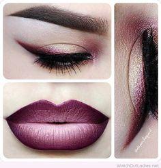 Purple lips and eye line https://www.fiverr.com/tashamaria