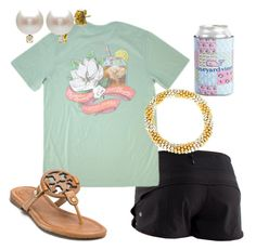"""""""Tuesday OOTD"""" by floridian-prep on Polyvore featuring lululemon, Vineyard Vines, Tory Burch, Meredith Frederick, DaVonna, women's clothing, women's fashion, women, female and woman"""