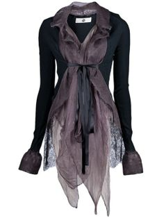 Marc Le Bihan - CONTRAST SILK JACKET from Anastasia Boutique #style- I think i could achieve this effect with a silk scarf and jacket or sweater